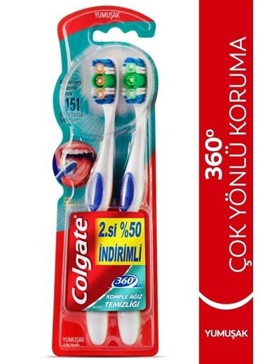 Colgate Colgate 360 Komple Ağız Temizliği Çok Yönlü Koruma Yumuşak 2'Li Diş Fırçası Renksiz